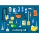 Vector Set Of Cleaning Tools. - GraphicRiver Item for Sale
