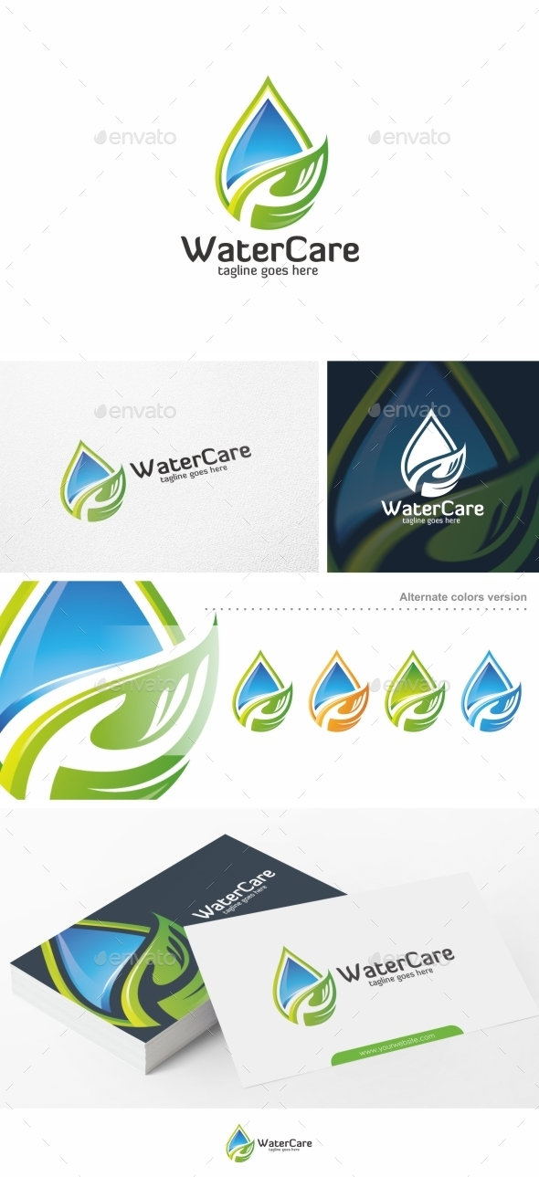 Water Care - Logo Template - Nature Logo Templates