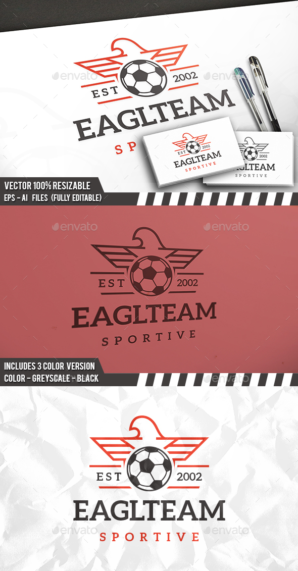 Football Eagle Logo - Animals Logo Templates