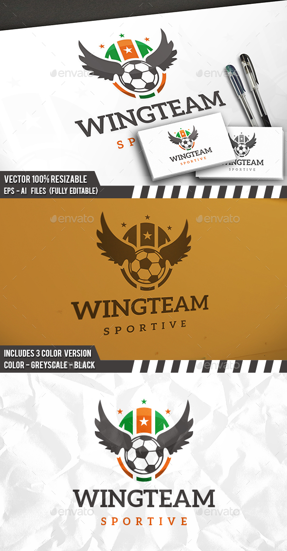 Football Sport Logo - Crests Logo Templates