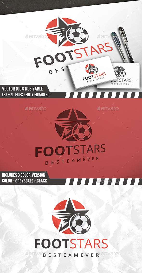 Football Stars Logo - Objects Logo Templates