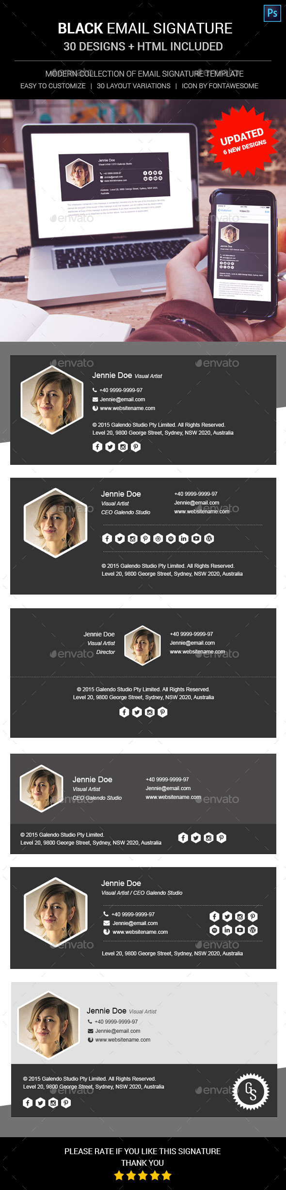 Black Email Signature by sinzo | GraphicRiver