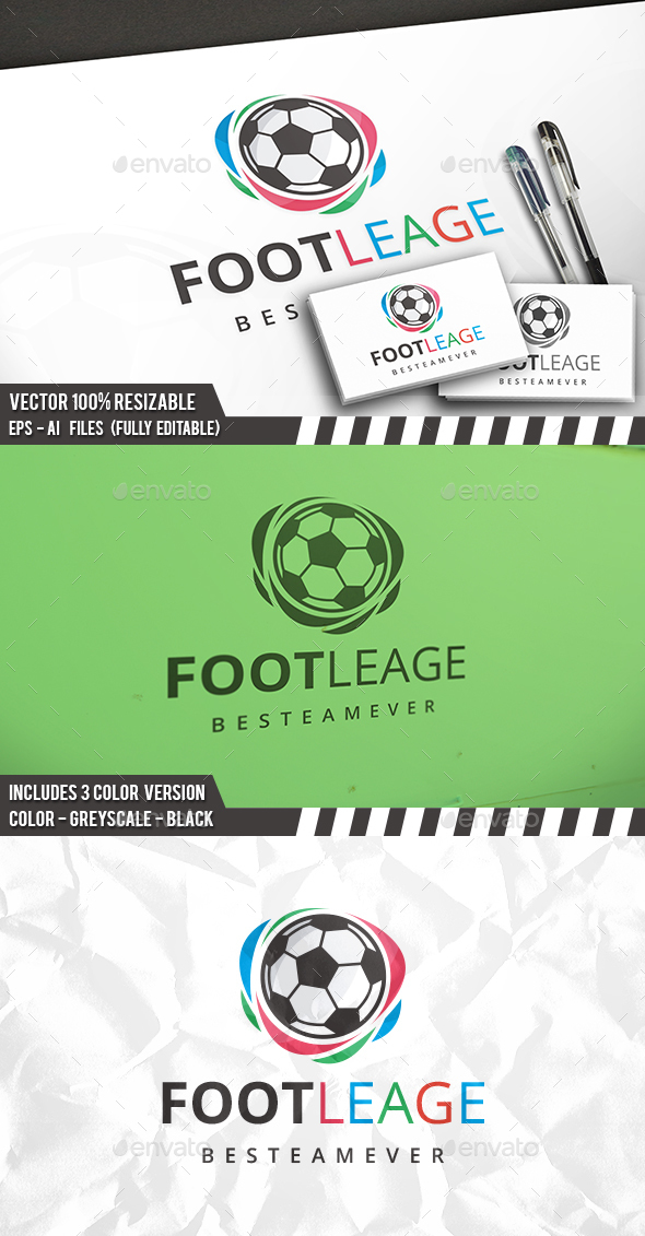 Football League Logo - Symbols Logo Templates