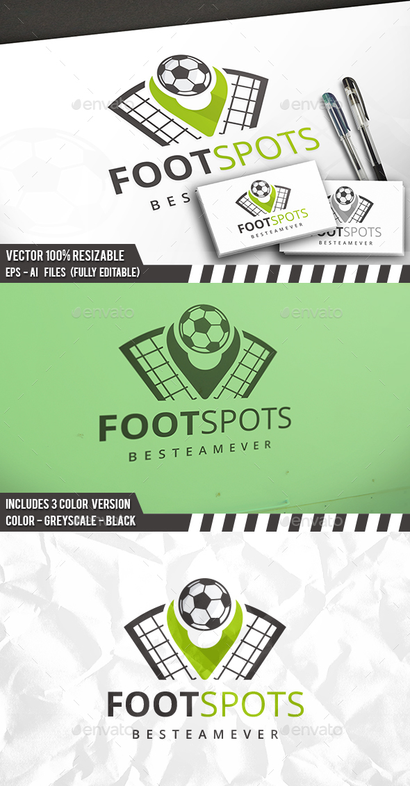 Football Spot Logo - Objects Logo Templates