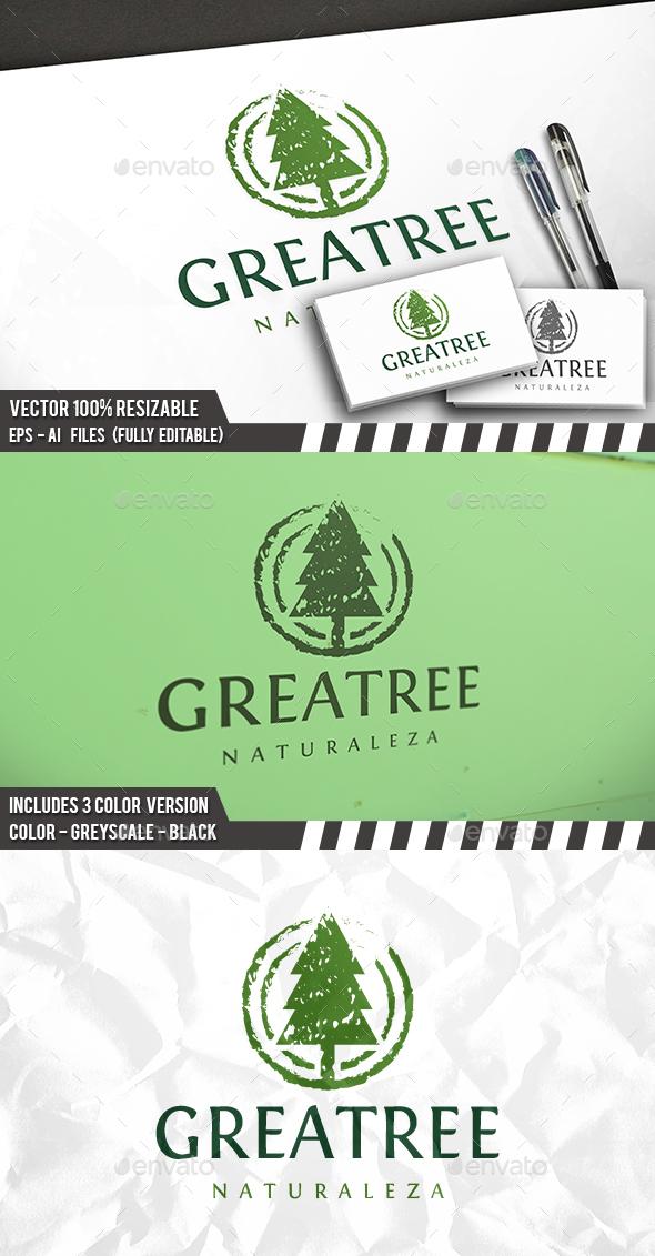 Grunge Tree Logo - Nature Logo Templates