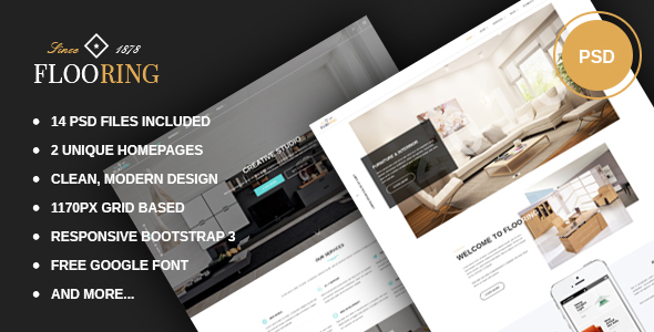 Flooring - Creative Portfolio PSD Template