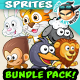 Animals 2D Game Character Sprites Bundle Pack 02 - GraphicRiver Item for Sale