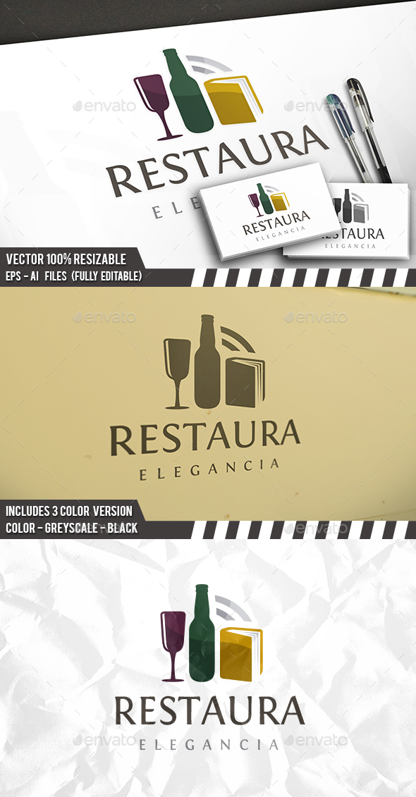 Restaurant Guide Logo - Restaurant Logo Templates