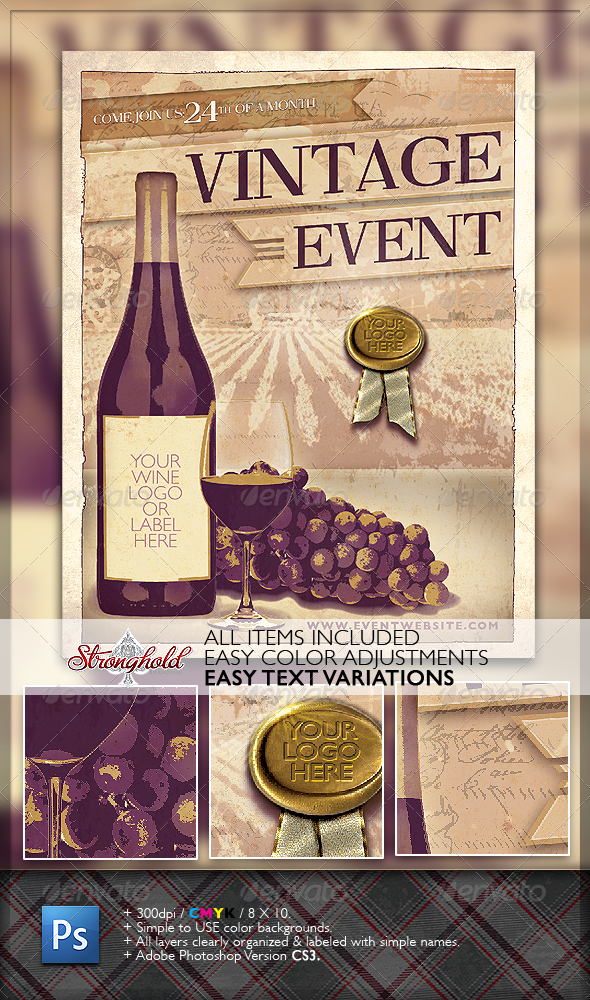 Wine Tasting Flyer Graphics Designs Templates