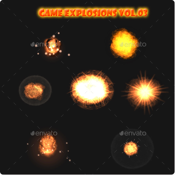 Game Explosions Vol.3 - Sprites Game Assets