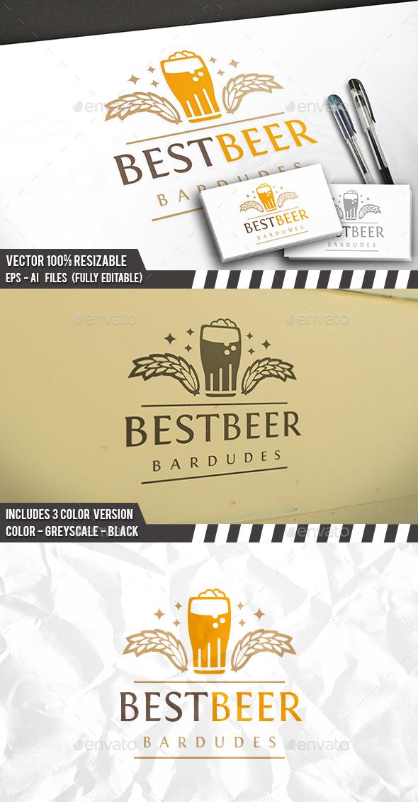 Best Beer Logo - Food Logo Templates