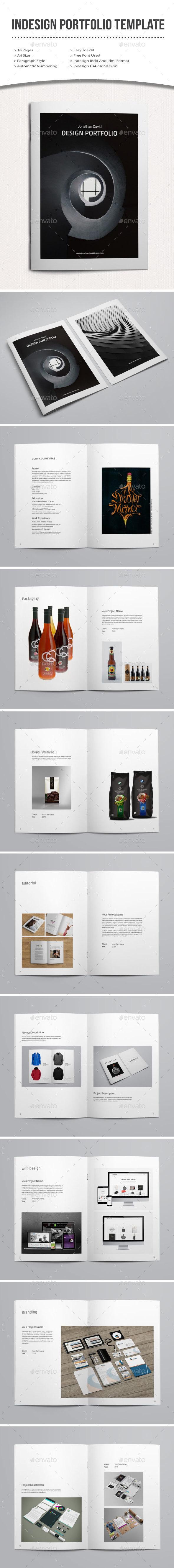 Indesign Portfolio Template - Portfolio Brochures