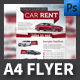 Luxury Car Rent A4 flyer Template - GraphicRiver Item for Sale