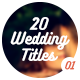 20 Wedding Titles - vol. 01 - VideoHive Item for Sale