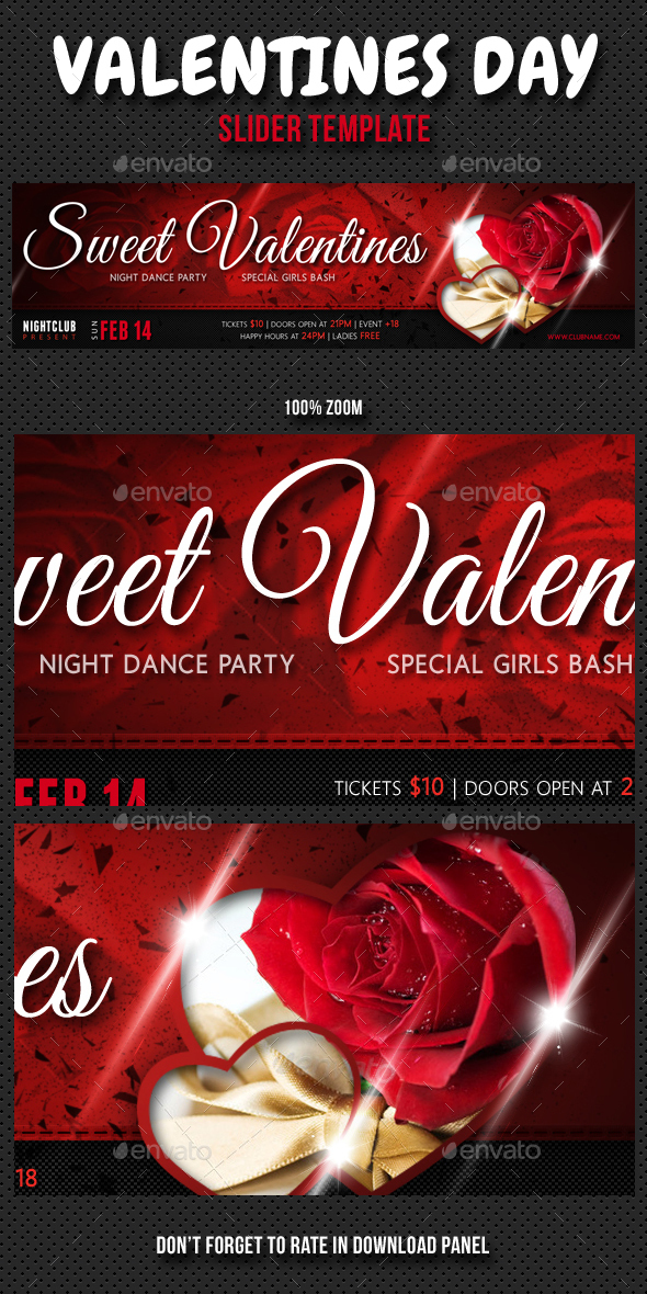 Valentines Day Slider - Sliders & Features Web Elements