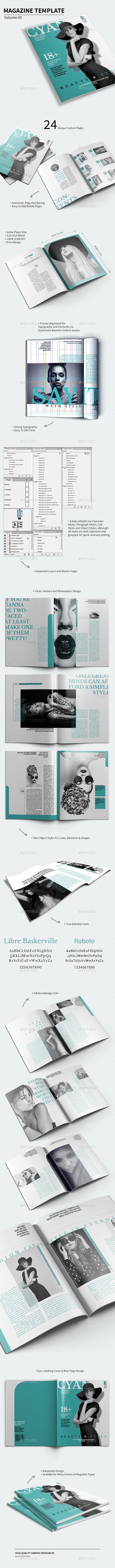 Magazine Template - Volume 09 - Magazines Print Templates