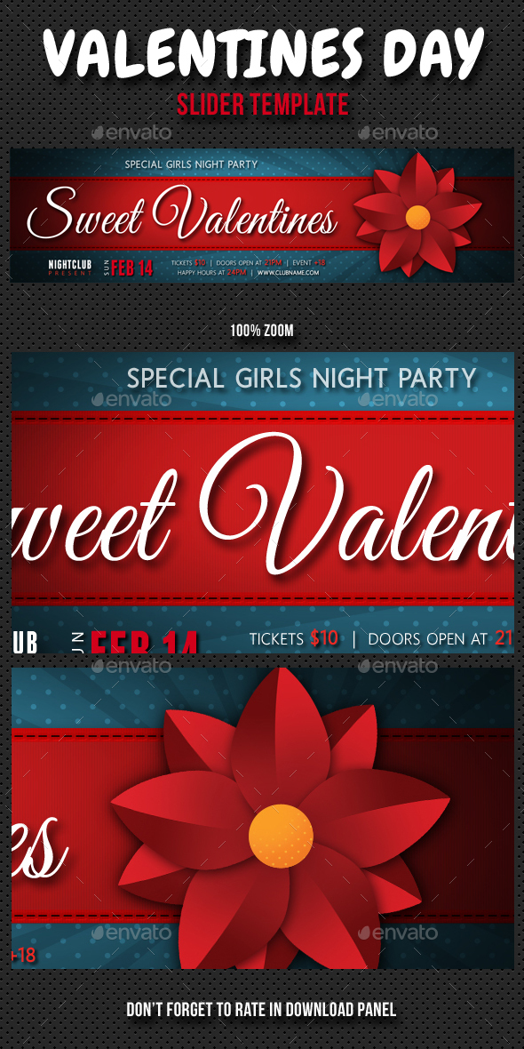 Valentines Day Slider 02 - Sliders & Features Web Elements