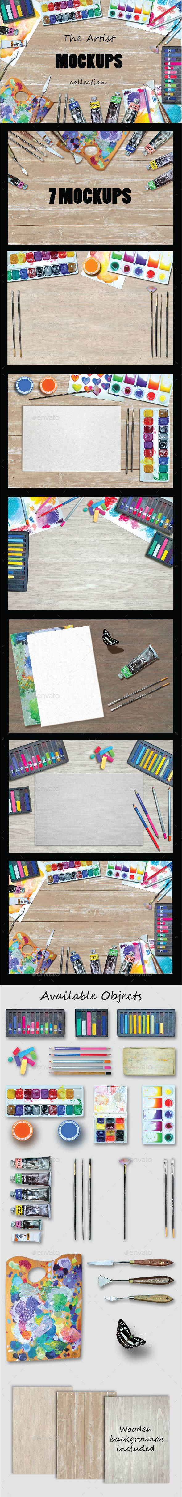 The Artist Scene Mockups - Product Mock-Ups Graphics
