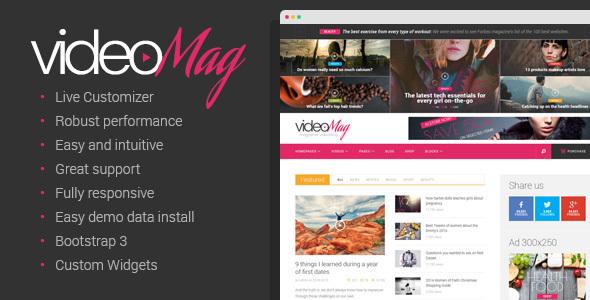 VideoMag – Magazine Videoblog Theme