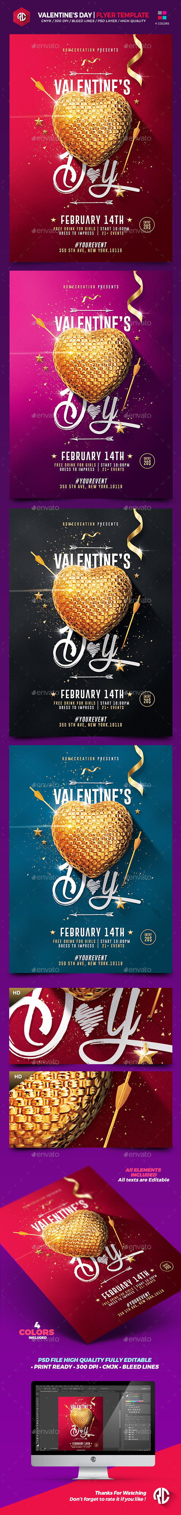 Valentine's Day | Flyer Template - Flyers Print Templates