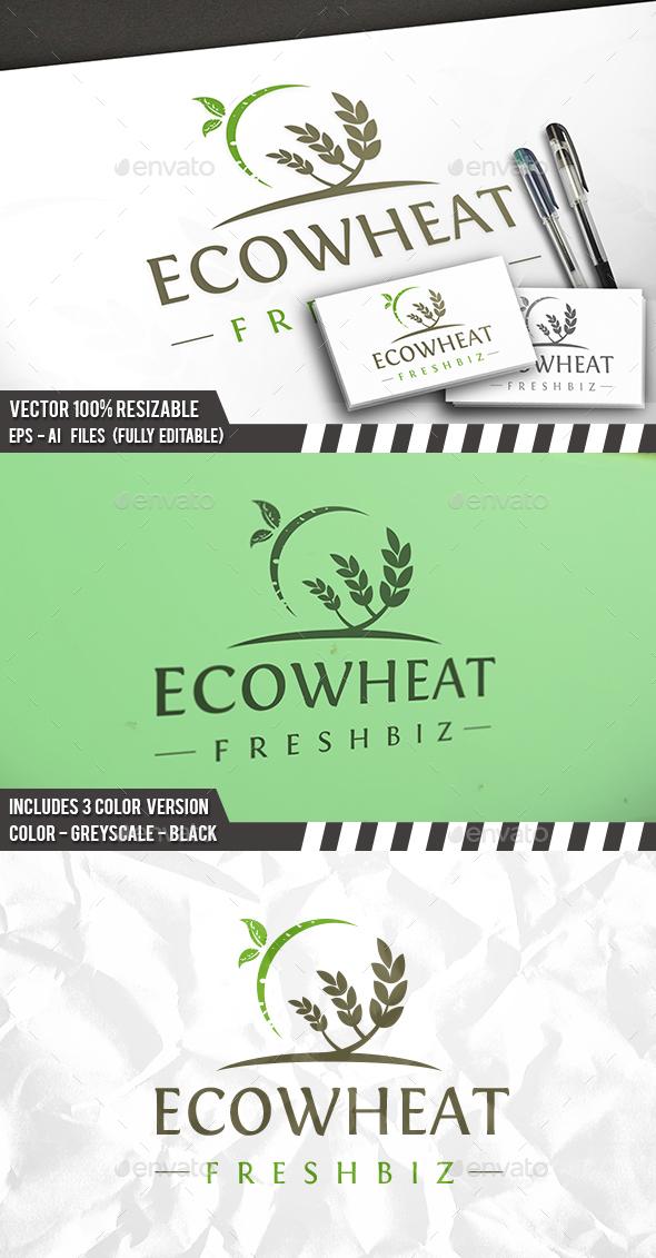 Eco Wheat Logo - Nature Logo Templates
