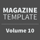 Magazine Template - Volume 10 - GraphicRiver Item for Sale