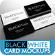 Black & White Business Card Mockup - Volume 2 - GraphicRiver Item for Sale