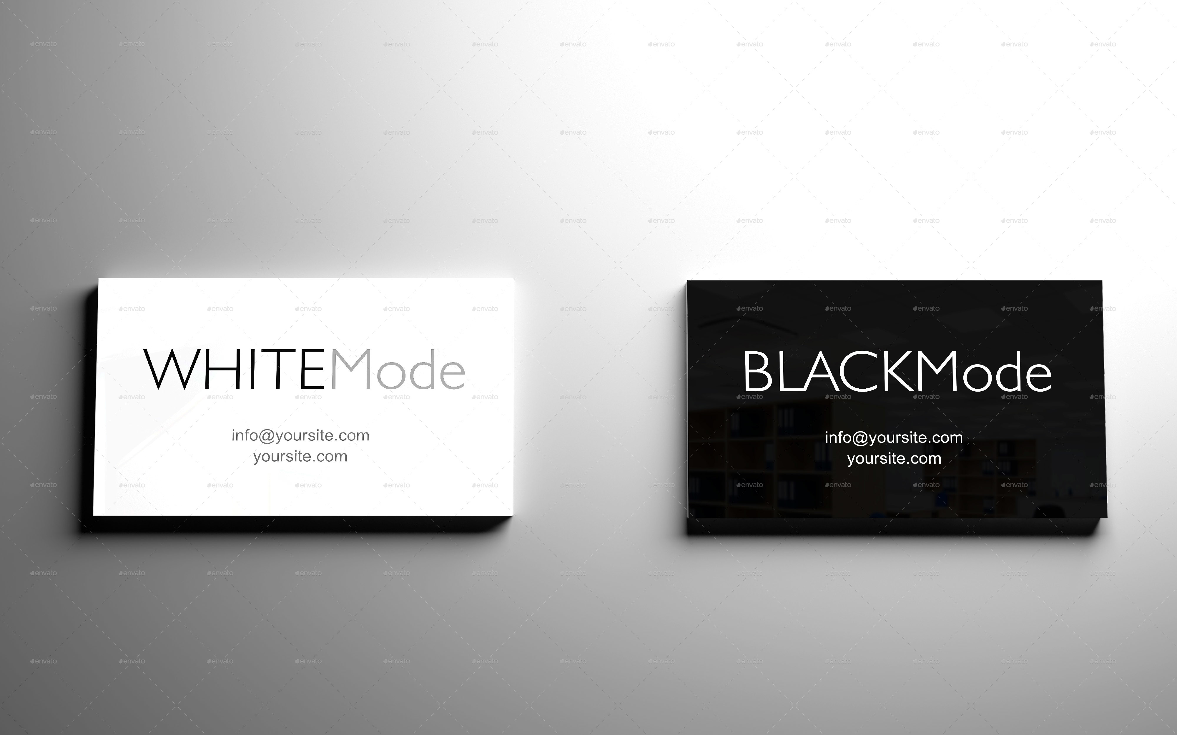 Black & White Business Card Mockup - Volume 2 by EdProje ...