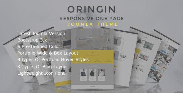 Oringin – Onepage JOOMLA Template