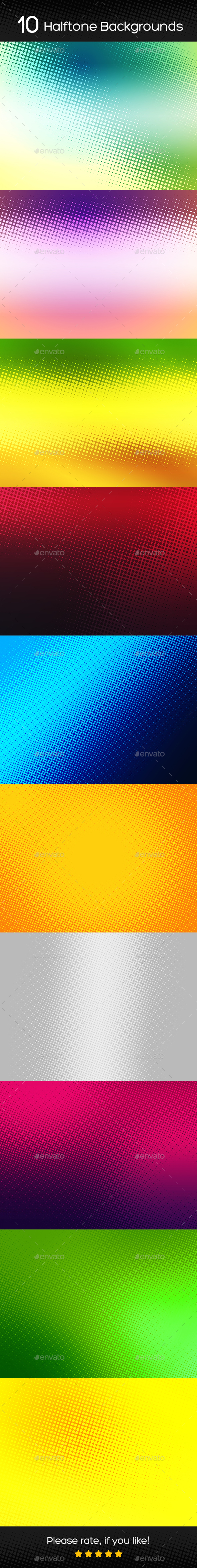 Halftone Backgrounds v2 - Abstract Backgrounds