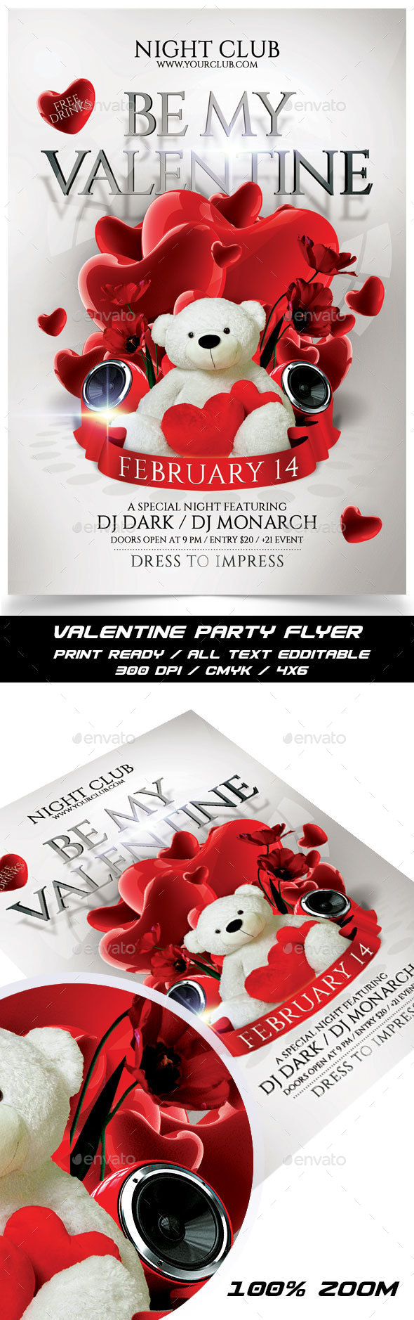 Be My Valentine Flyer - Events Flyers