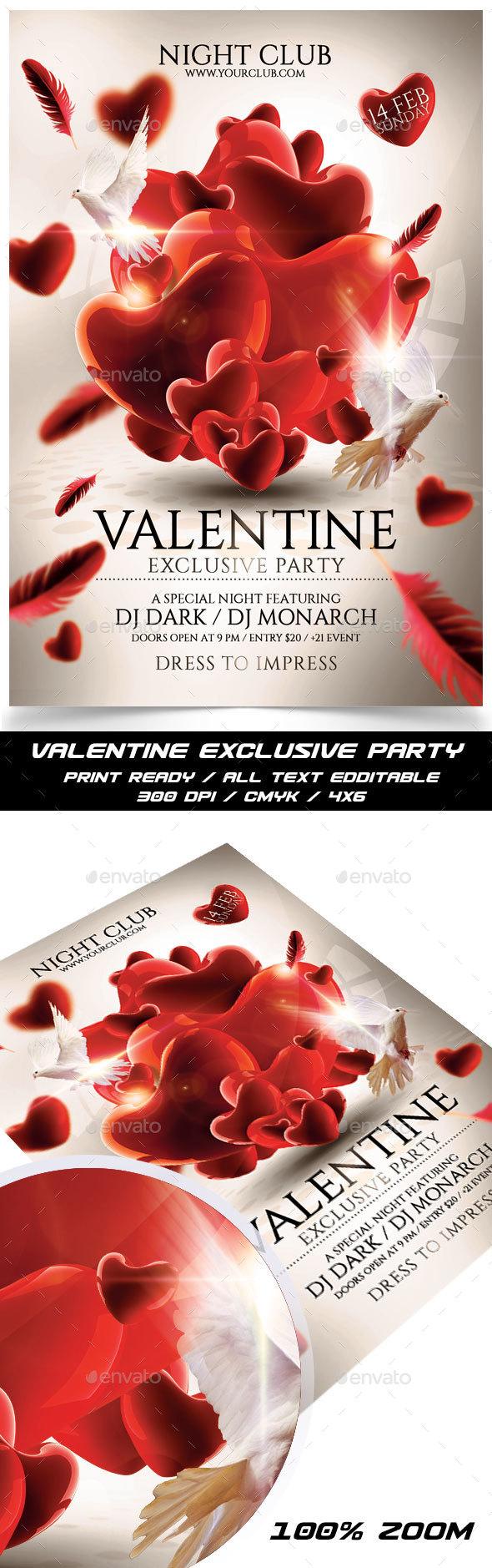 Valentine Exclusive Party - Events Flyers
