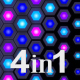 Colorful Hexagons Transitions (4-Pack) - VideoHive Item for Sale
