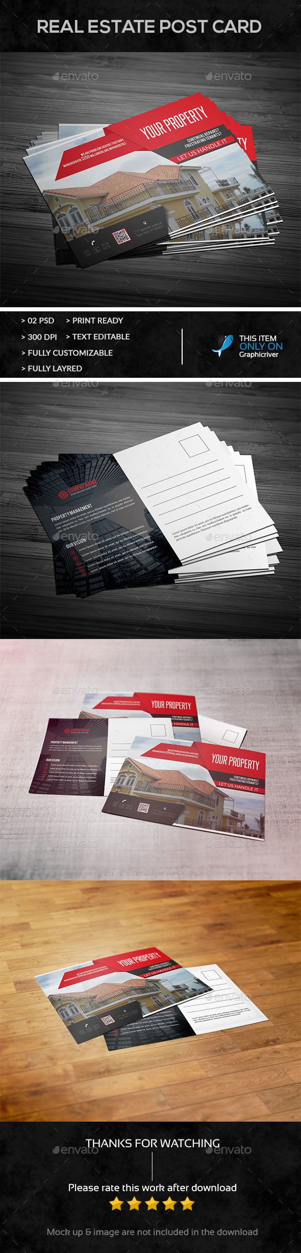 Real Estate Post Card - Cards & Invites Print Templates