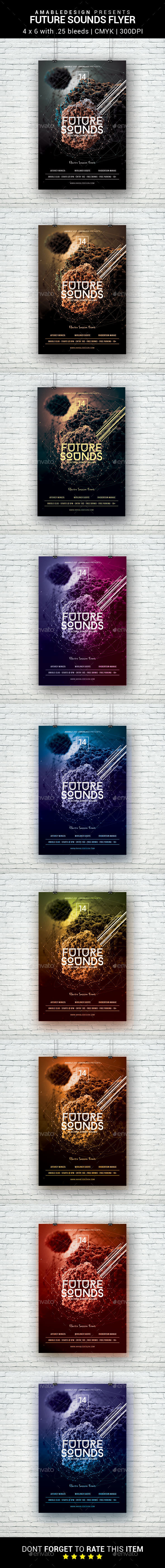 Future Sounds Flyer - Clubs & Parties Events