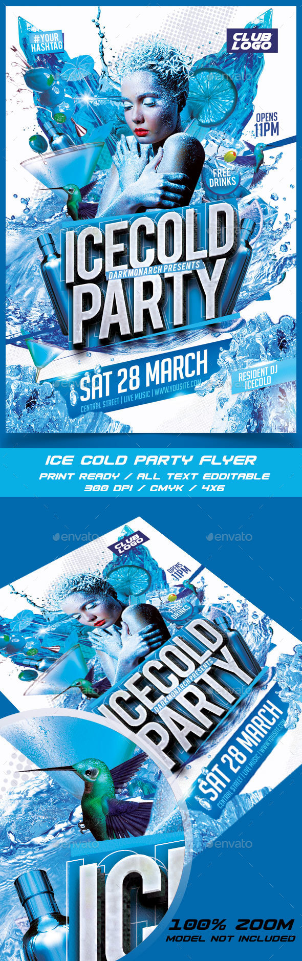 Ice Cold Party - Events Flyers