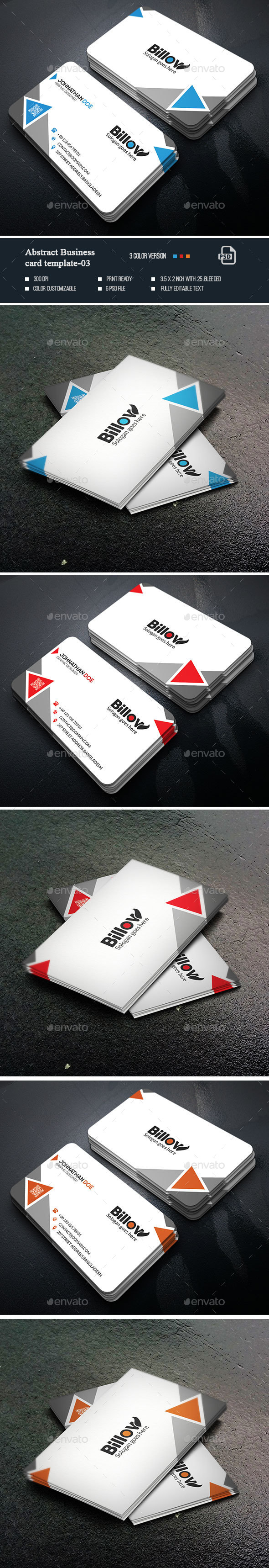 Abstract Business Card-03 - Business Cards Print Templates
