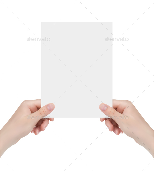Hands Holding Poster - Concepts Business