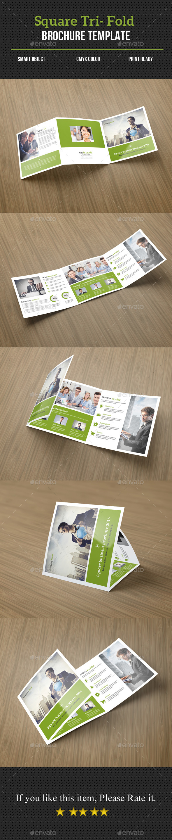 Square Tri- fold Corporate Brochure - Corporate Brochures