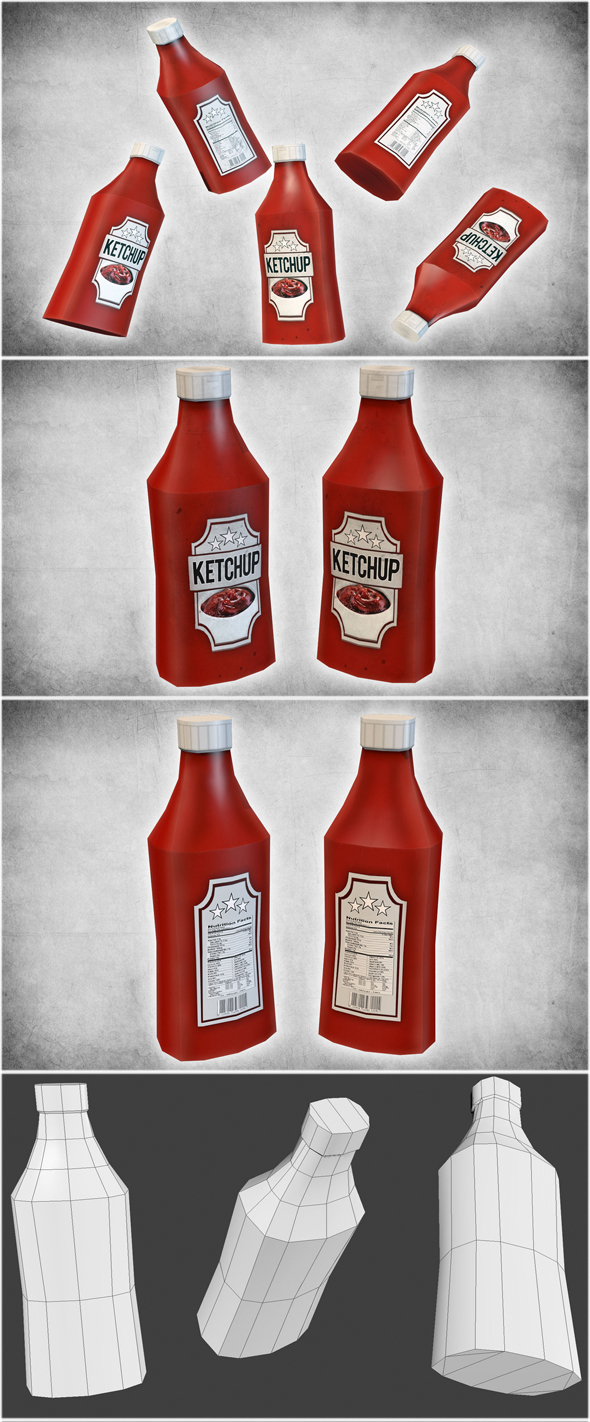 Ketchup Bottle - 3DOcean Item for Sale