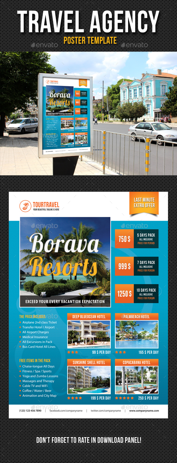 Travel Agency Poster Template V02 - Signage Print Templates