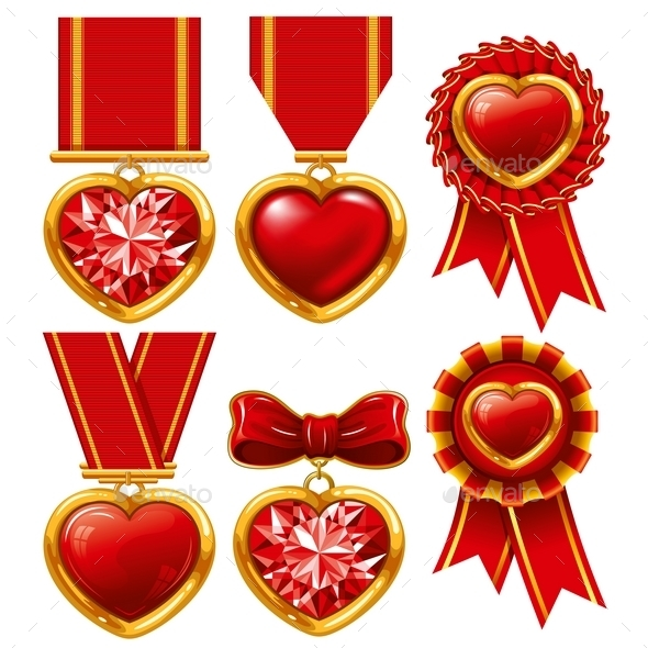 Medal Heart - Valentines Seasons/Holidays