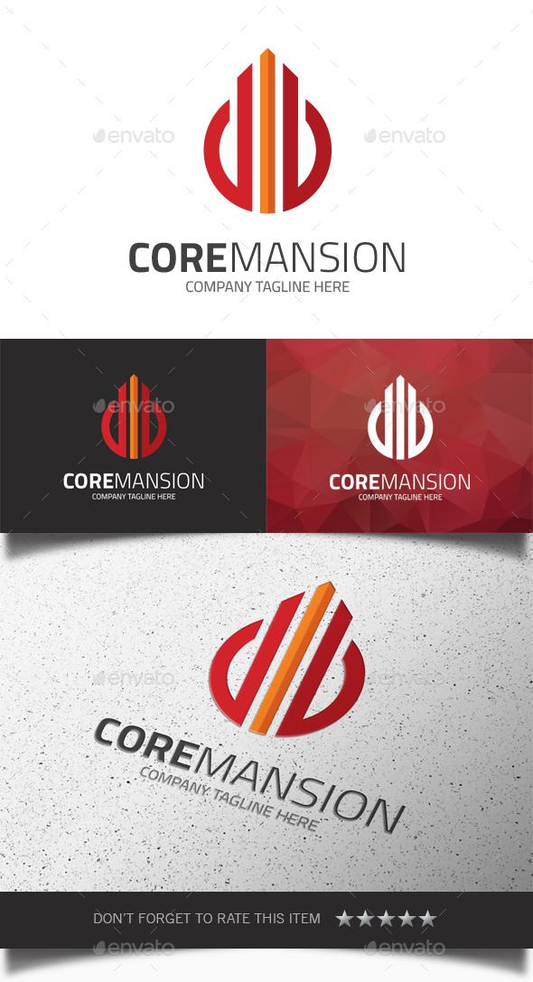 Core Mansion Logo - Buildings Logo Templates