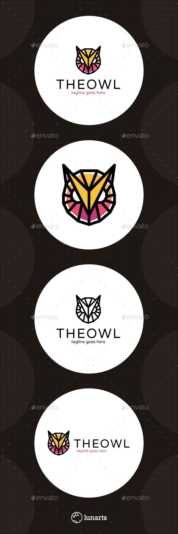 Poly Owl Logo - Animals Logo Templates