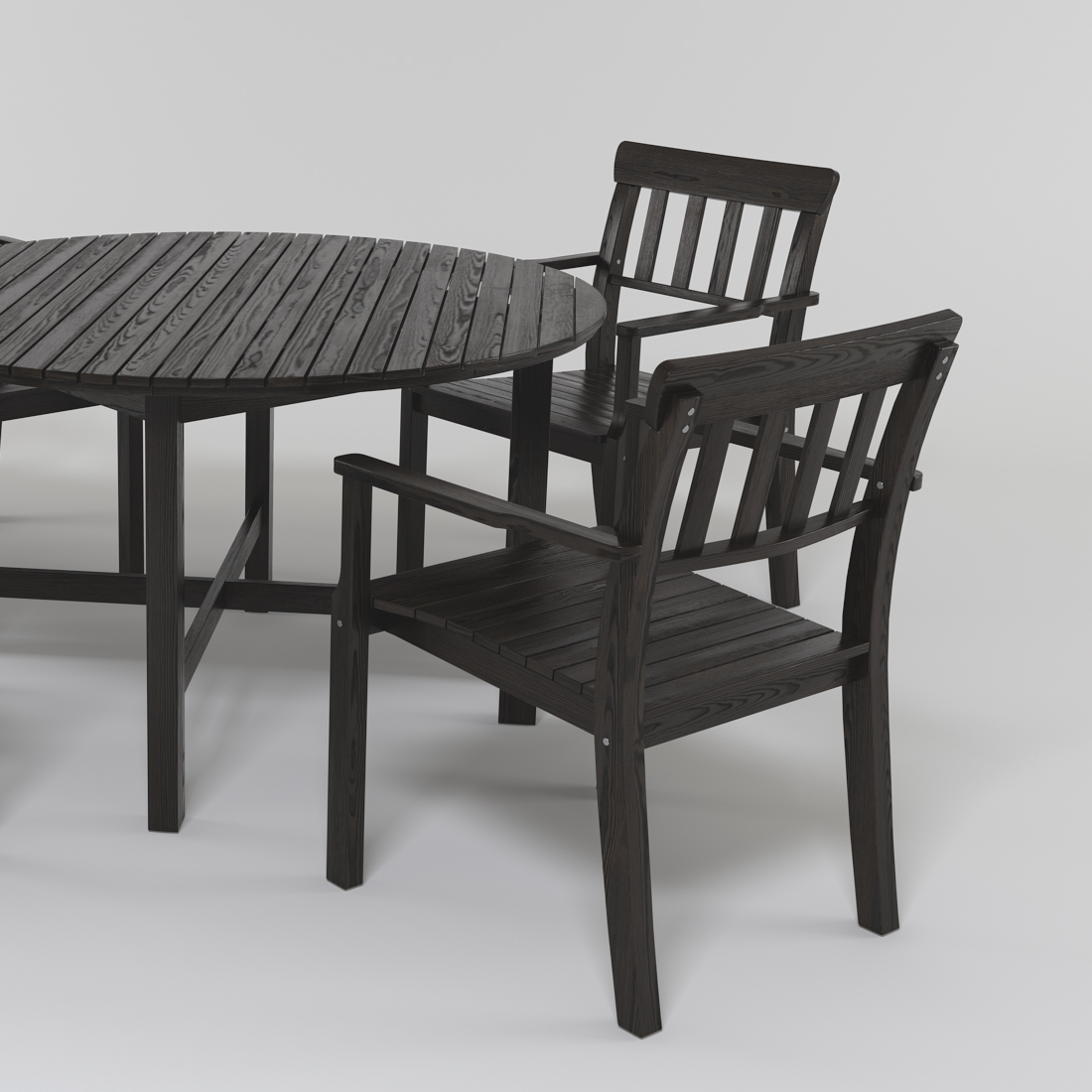 ikea angso table and chairs by elnurhuseinoff 3docean