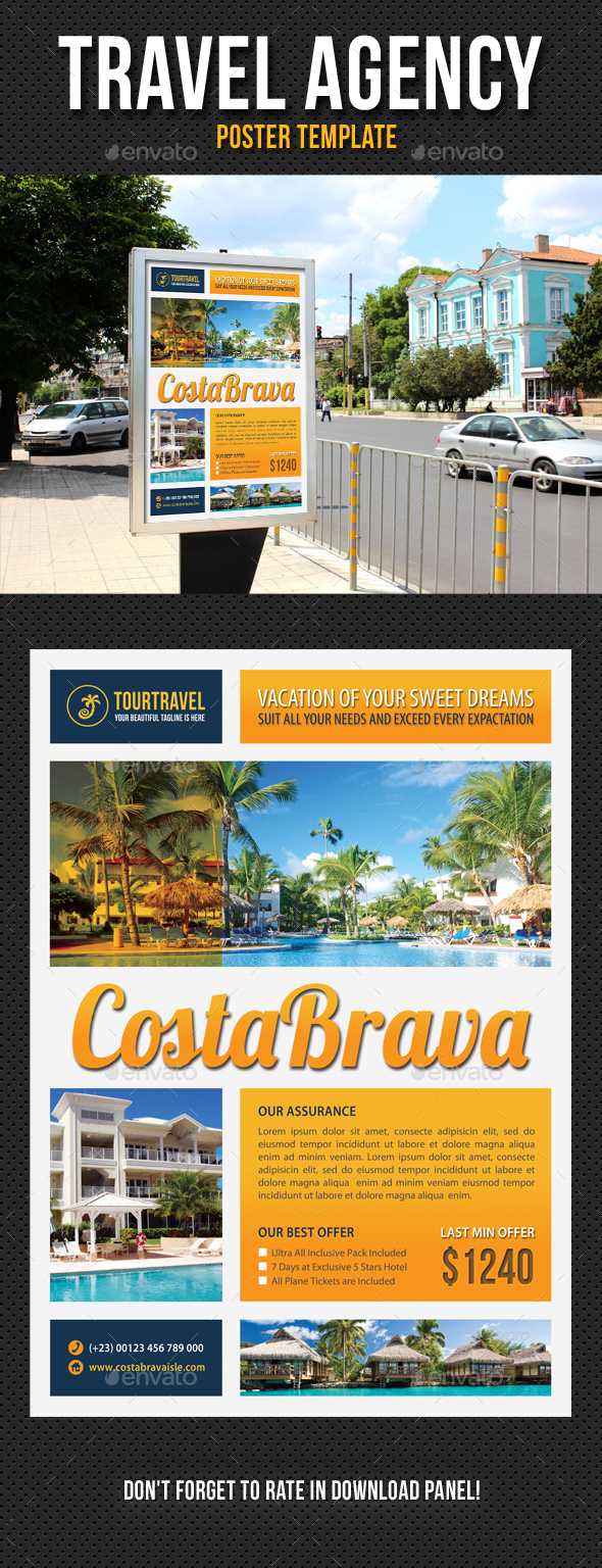 Travel Agency Poster Template V04 - Signage Print Templates