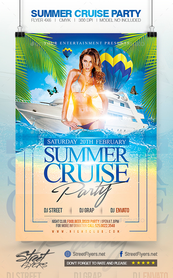 Summer Cruise Party Flyer Template By Streetflyers Graphicriver