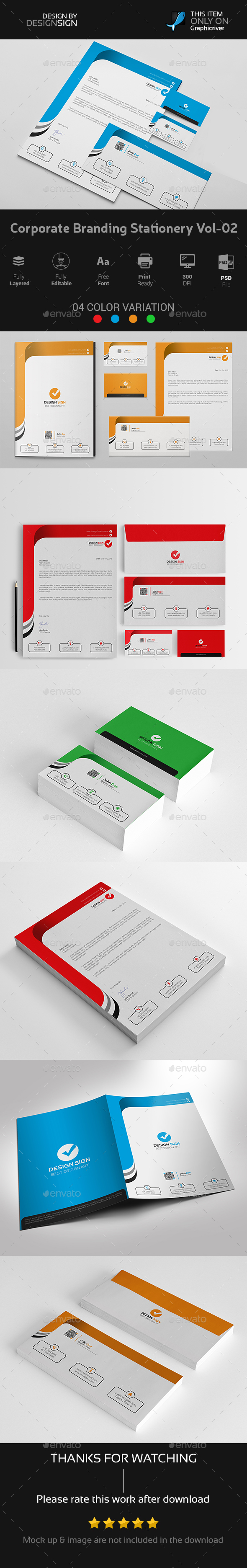 Corporate Branding Stationery Vol-02 - Stationery Print Templates