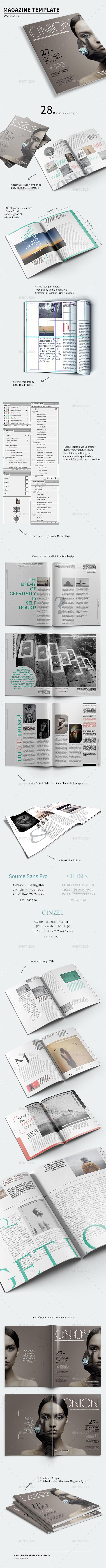 Magazine Template - Volume 08 - Magazines Print Templates