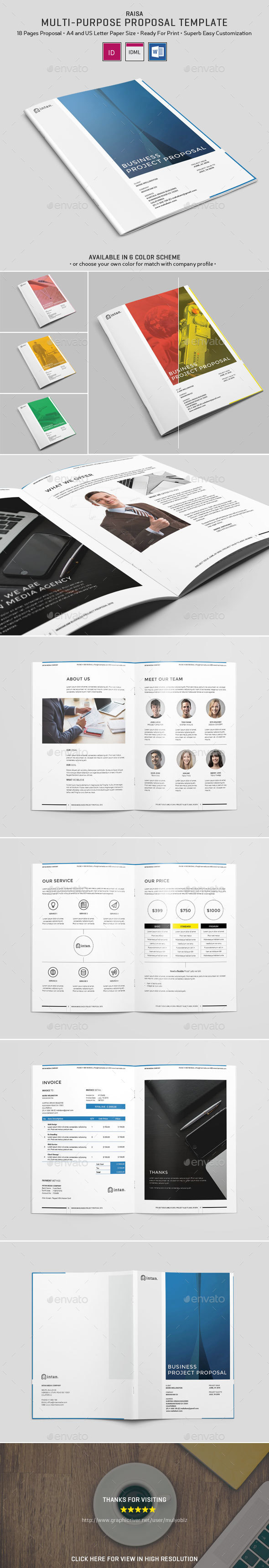 Raisa - Proposal Template - Proposals & Invoices Stationery